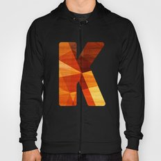 Letter K - Wood Initial  Hoody