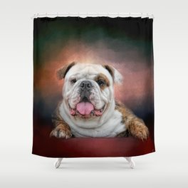 Hanging Out - Bulldog Shower Curtain