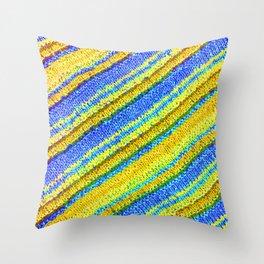 sasazuka knit 6 Throw Pillow