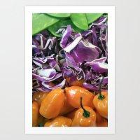 Foodie Collage  Art Print