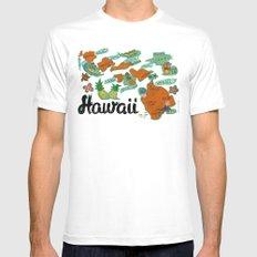 HAWAII White Mens Fitted Tee MEDIUM