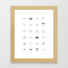 Black Underwear Framed Art Print