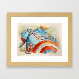 Capt America - Fictional Superhero Framed Art Print