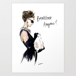 Breakfast Anyone? Art Print