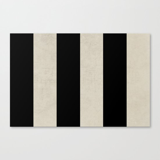 vintage black stripes Canvas Print