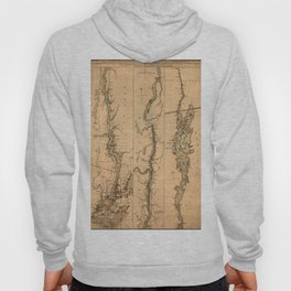 Map Of The Hudson River 1777 Hoody