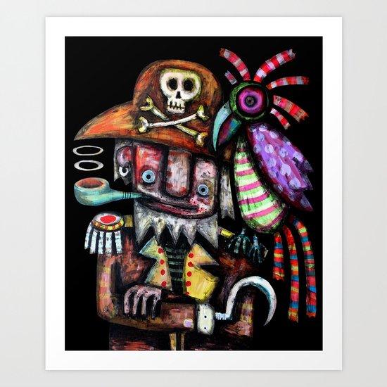 Old Pirate Art Print