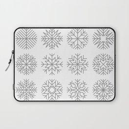 minimalist snow flakes Laptop Sleeve