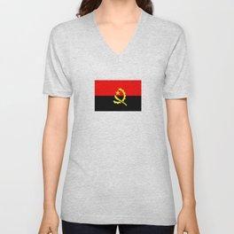angola country flag Unisex V-Neck