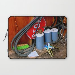 Garages Ail - Fancy Broom And Wind Chimes Laptop Sleeve