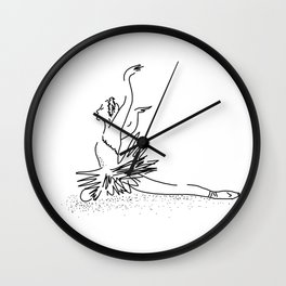 white swan.  Dance (  https://society6.com/vickonskey/collection ) Wall Clock