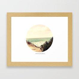 Where the sky and sea fall in love Framed Art Print