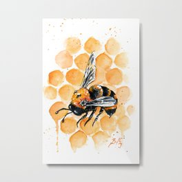 Clockwork Bee IX Metal Print