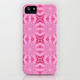 Bubblegum Pink Flower Cross Design iPhone Case