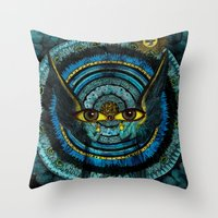 halo Throw Pillows featuring Halo by Joellart