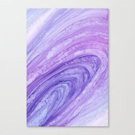 Purple Agate Geode Crystal Slice Canvas Print