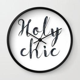 Holy chic Wall Clock