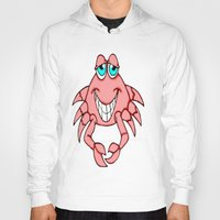 crab Hoodies featuring Cheerful Crab by J&C Creations