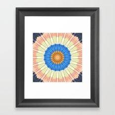 Textured Mandala Circles Framed Art Print