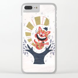 Cheshire Cat - Alice in Wonderland Clear iPhone Case