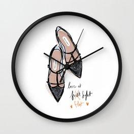 Love at f... lat sight Wall Clock