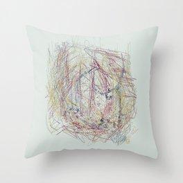 RoseBud Meshwork Throw Pillow