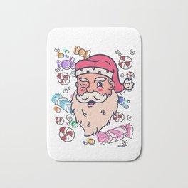 Santa Claus Child Candy Gift Bath Mat