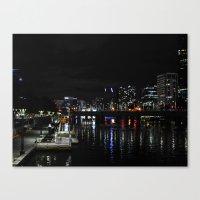 melbourne Canvas Prints featuring Melbourne  by Komorebi Photographics