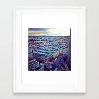 vienna Framed Art Prints featuring Vienna by SandraHuezo