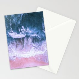 Pink Sand Blue Sea Stationery Cards