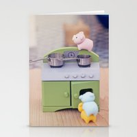 cooking Stationery Cards featuring Cooking Classes by Irène Sneddon