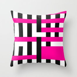 Licorice Bytes, No.18 in Black and Pink Throw Pillow