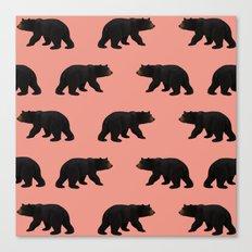bear pattern Canvas Print