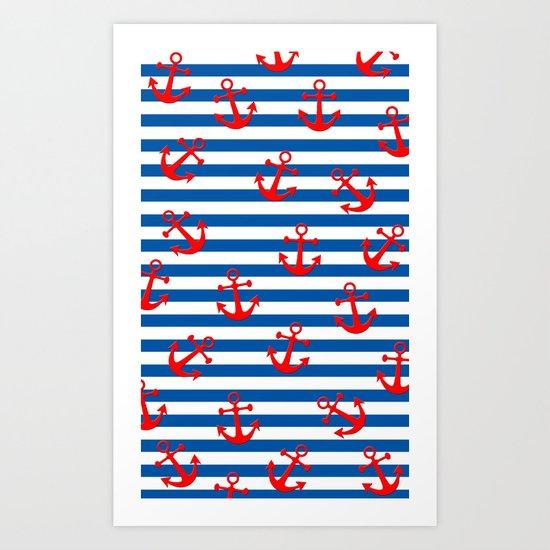 Anchors Aweigh! Art Print