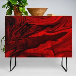 Blood Red Marble Credenza