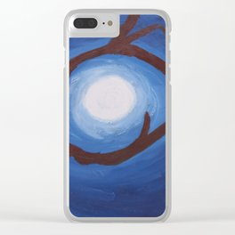 Moon So Bright Clear iPhone Case