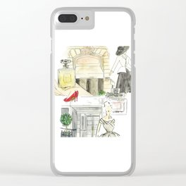 Shopping in paris Clear iPhone Case