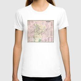 Vintage Map of Stamford CT (1867) T-shirt