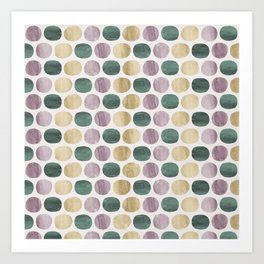 Colorful dots pattern Art Print