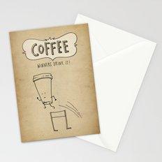 COFFEE  Winners Drink It! Stationery Cards