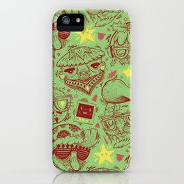 Have a Hipster Christmas! iPhone Case