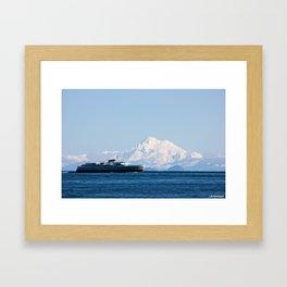 Coho and the mountain Framed Art Print