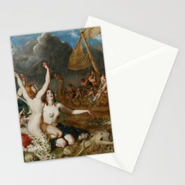William Etty - The Sirens and Ulysses Stationery Cards