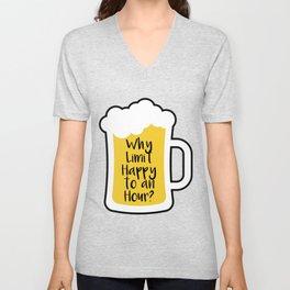 Beer Happy Hour Unisex V-Neck