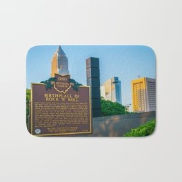 Cleveland Ohio Rock and Roll Hall of Fame Gift Ideas Bath Mat