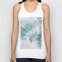 norway Tank Tops featuring Norway - Nebula - with triangles! by Andrej Stern