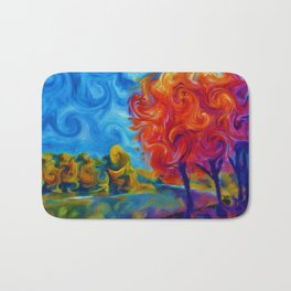 Abstract Landscape Art Painting Bath Mat