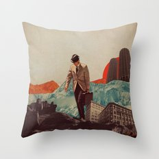 Leaving Their Cities Behind Throw Pillow