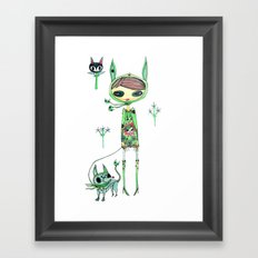 punk gree Framed Art Print