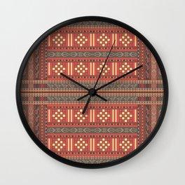 Heritage Textile Panel 5 Wall Clock